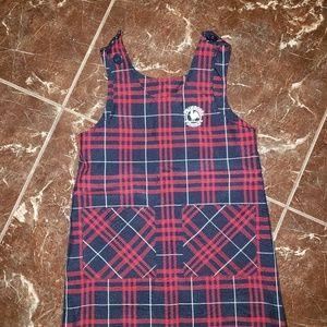 Primrose/Dennis uniform plaid dress